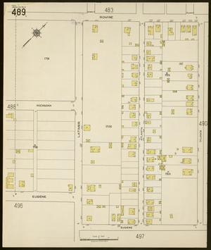 Primary view of object titled 'Dallas 1922 Sheet 489'.