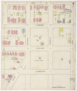 Primary view of object titled 'El Paso 1893 Sheet 4'.