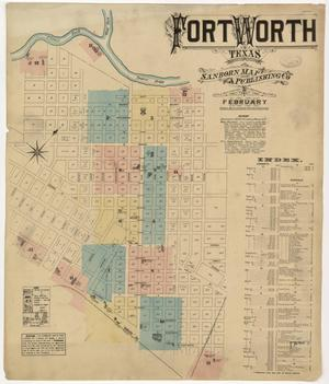 Primary view of object titled 'Fort Worth 1885 Sheet 1'.