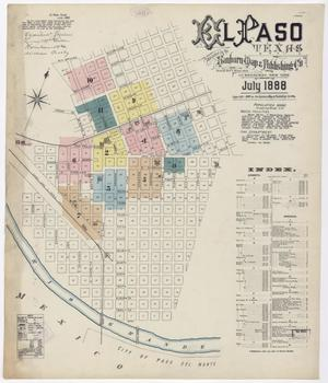 Primary view of object titled 'El Paso 1888 Sheet 1'.