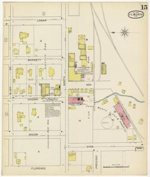 Primary view of object titled 'Fort Worth 1893 Sheet 15'.