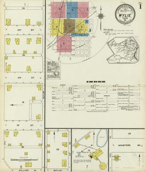 Primary view of object titled 'Wylie 1921 Sheet 1'.