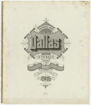 Primary view of object titled 'Dallas 1905, Volume Two - Title Page'.