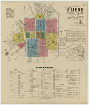 Primary view of object titled 'Cuero 1922 Sheet 1'.