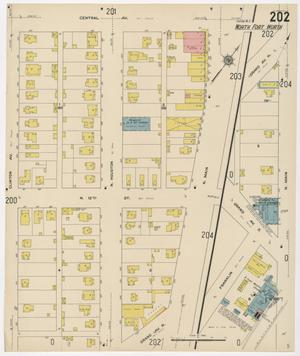 Primary view of object titled 'Fort Worth 1911 Sheet 202'.