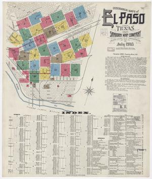 Primary view of object titled 'El Paso 1905 Sheet 1'.