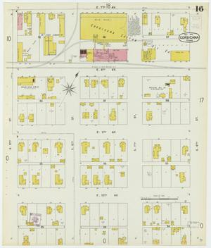 Primary view of object titled 'Corsicana 1900 Sheet 16'.