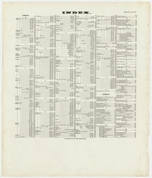 Primary view of object titled 'Dallas 1905, Volume Two - Index'.