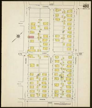 Primary view of object titled 'Dallas 1922 Sheet 480'.