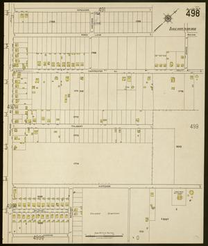 Primary view of object titled 'Dallas 1922 Sheet 498'.