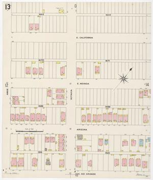 Primary view of object titled 'El Paso 1908 Sheet 13'.