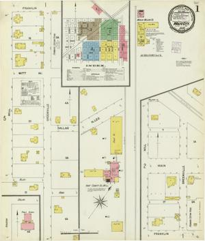 Primary view of object titled 'Wolfe City 1901 Sheet 1'.