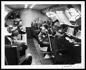 Primary view of object titled 'Men at Command Consoles'.