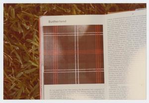 [Photograph of Clan Sutherland Tartan]
