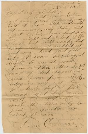 Primary view of object titled '[Letter from Edgar B. Sutherlin to Edith Wilson, 1903]'.