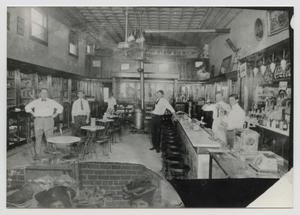 Primary view of object titled '[Interior of the Hart Drug Store]'.
