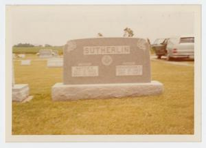 Primary view of object titled '[Sutherlin Headstone]'.