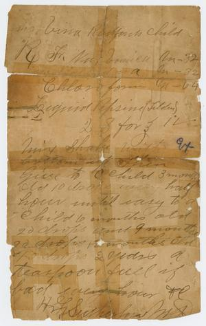 Primary view of object titled '[Handwritten Notes]'.