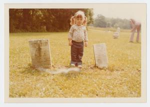 Primary view of object titled '[Child with Headstones]'.