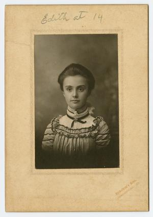 Primary view of object titled '[Photograph of Edith Wilson, Age 14]'.