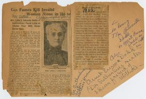 [News Clippings: Deaths of Mrs. Edwards and Mrs. Dodd]