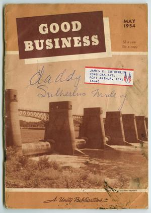 Primary view of object titled 'Good Business, Volume 64, Number 5, May 1954'.