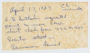 [Handwritten Note, April 17, 1937]