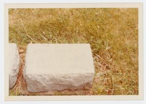 Primary view of object titled '[Headstone of Dr. James Franklin Sutherlin]'.