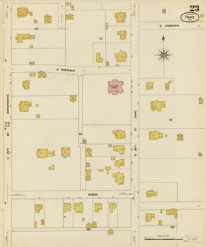 Primary view of object titled 'Paris 1908 Sheet 23'.