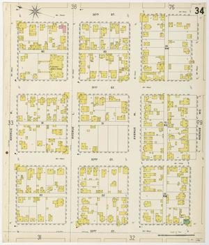 Primary view of object titled 'Galveston 1899 Sheet 34'.