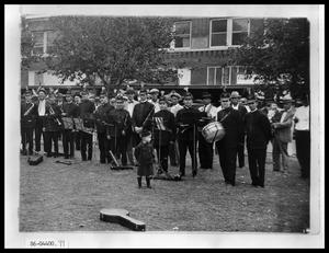 Primary view of object titled 'Music Band on Lawn'.