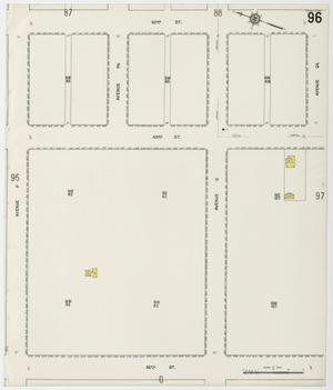 Primary view of object titled 'Galveston 1912 Sheet 96'.