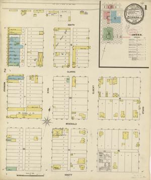 Primary view of object titled 'Quanah 1898 Sheet 1'.