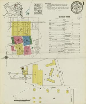 Primary view of object titled 'Royse City 1921 Sheet 1'.