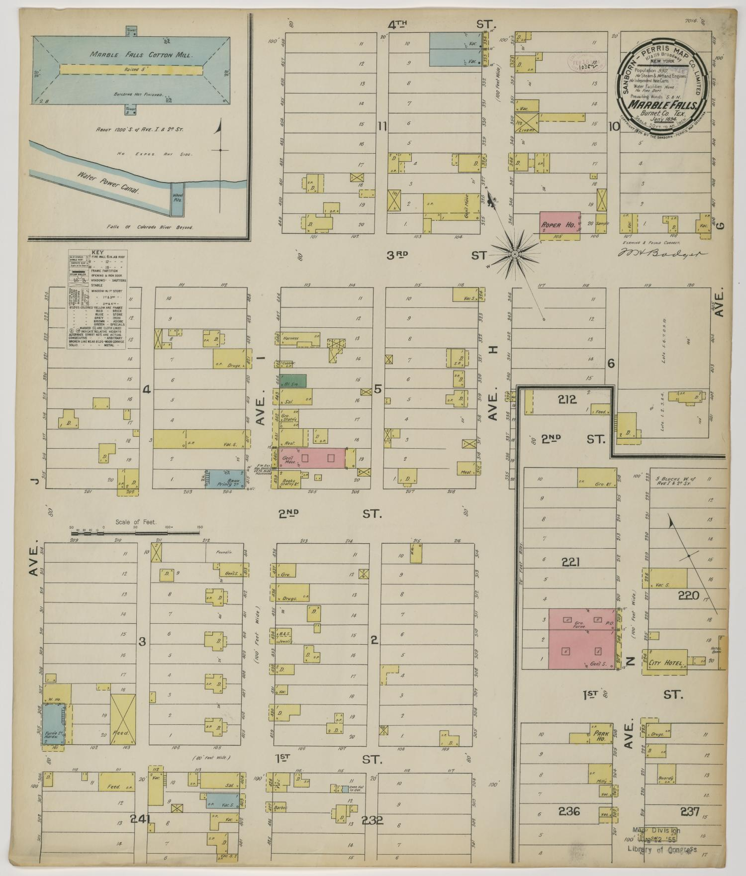 Marble Falls 1894 Sheet 1                                                                                                      [Sequence #]: 1 of 1