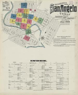 Primary view of object titled 'San Angelo 1908 Sheet 1'.