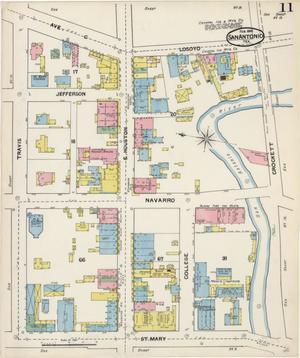 Primary view of San Antonio 1892 Sheet 11