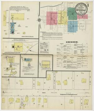 Primary view of Gatesville 1912 Sheet 1
