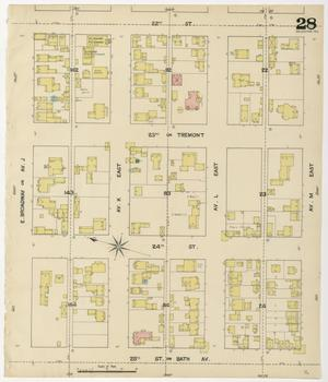 Primary view of object titled 'Galveston 1889 Sheet 28'.