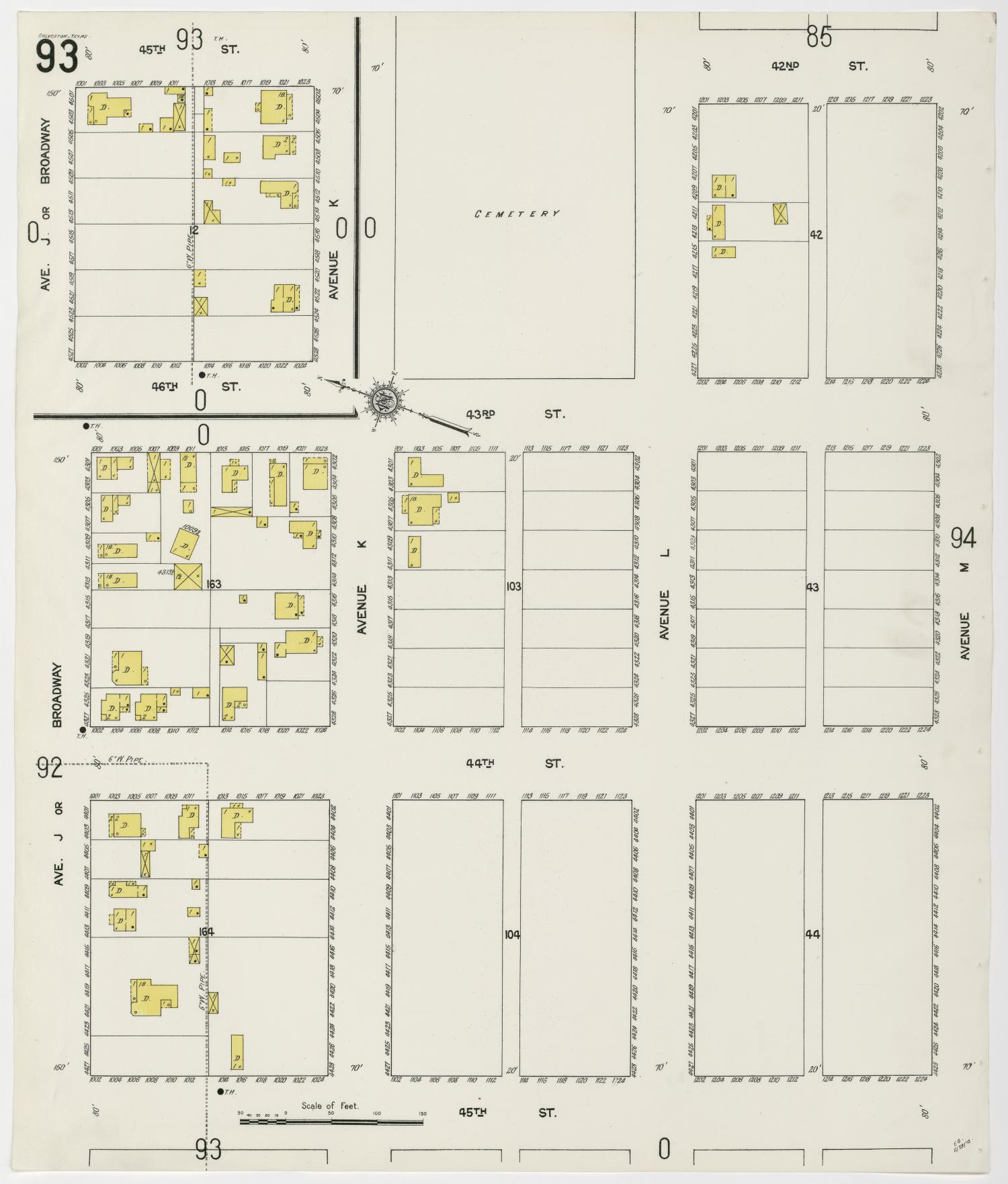 Galveston 1912 Sheet 93                                                                                                      [Sequence #]: 1 of 1