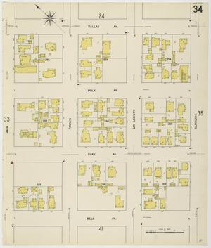 Primary view of object titled 'Houston 1907 Vol. 1 Sheet 34'.