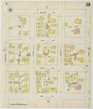Primary view of object titled 'Houston 1896 Sheet 28'.