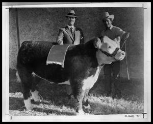 Primary view of object titled 'Men with Steer'.