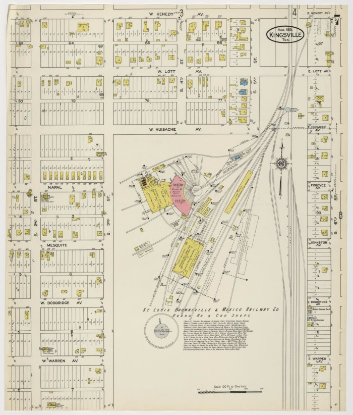 Map Of Texas Kingsville.Kingsville 1915 Sheet 7 The Portal To Texas History
