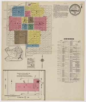 Primary view of object titled 'Kingsville 1922 Sheet 1'.