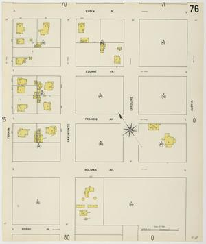 Primary view of object titled 'Houston 1907 Vol. 1 Sheet 76'.