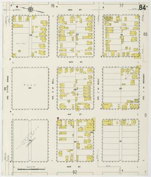 Primary view of object titled 'Galveston 1912 Sheet 84'.