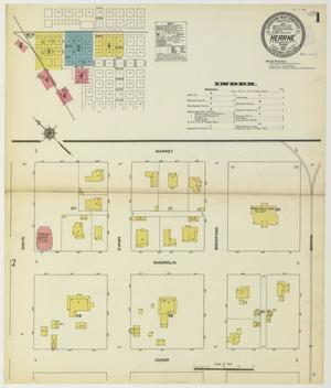 Primary view of object titled 'Hearne 1911 Sheet 1'.