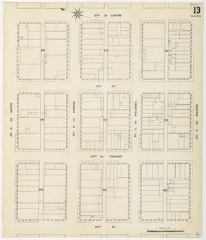 Primary view of object titled 'Galveston 1899 Sheet 13 (Skeleton)'.