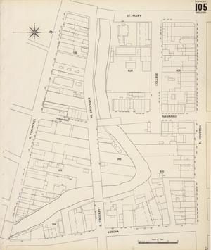 Primary view of object titled 'San Antonio 1904 Sheet 105 (Skeleton Map)'.